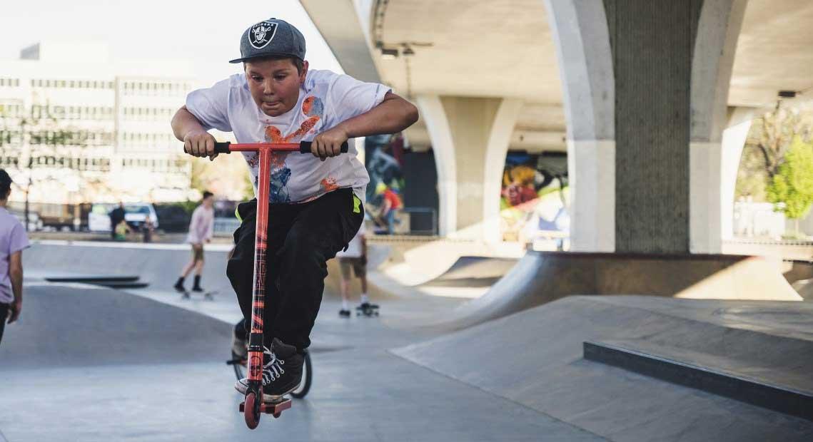 Stunt Scooter im Einsatz