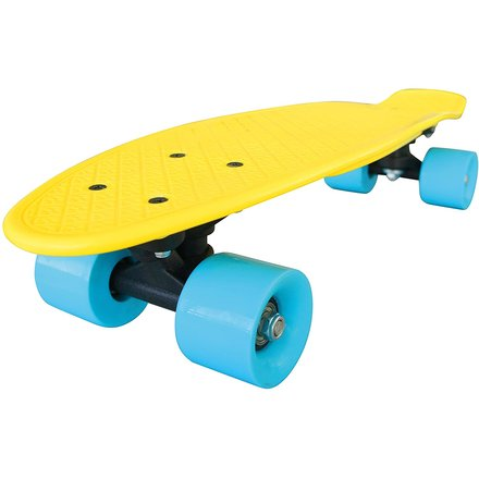 Streetsurfing Skateboard New Fizz Board, Yellow/Blue, 500206