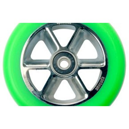 Anaquda Taipan Stunt-Scooter Rolle 110mm + Abec9 Kugellager (Chrome / Pu Green)