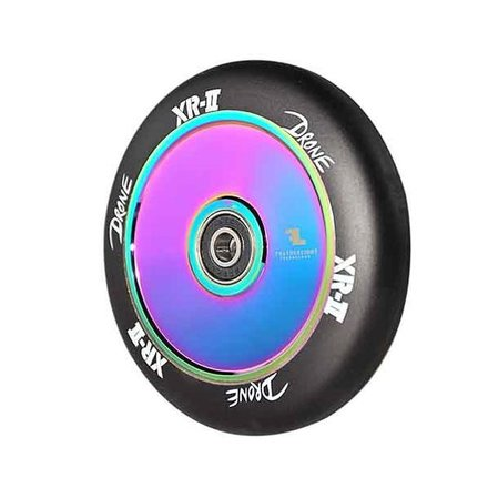 Drone XR-2 Stunt-Scooter Rolle 110mm (Neo Chrome / Pu Schwarz)