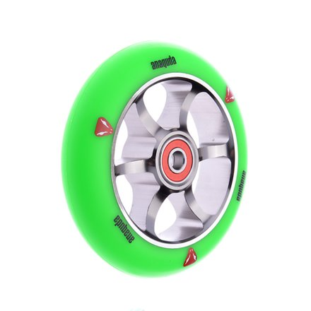 Anaquda Spoked Wheel Green/Titan 110 mm