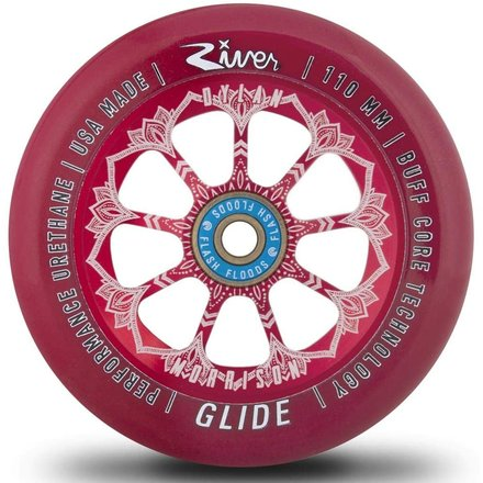 River Glide Stunt Scooter Wheels Dylan Morrison Signature, rot 1 Paar